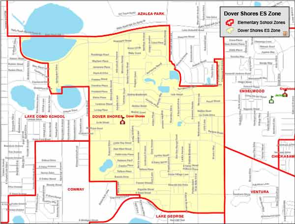 OCPS Dover Shores Elementary Map