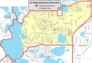OCPS Dr. Phillips Elementary Map