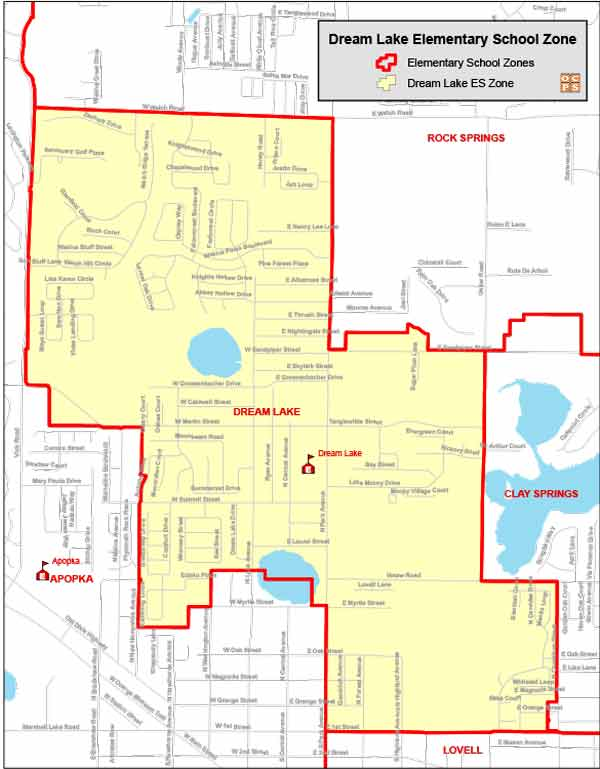 OCPS Dream Lake Elementary Map