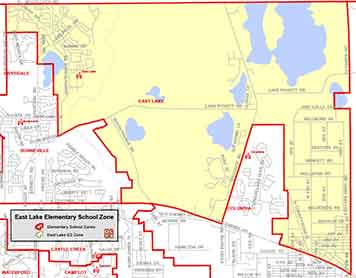 OCPS East Lake Elementary Map