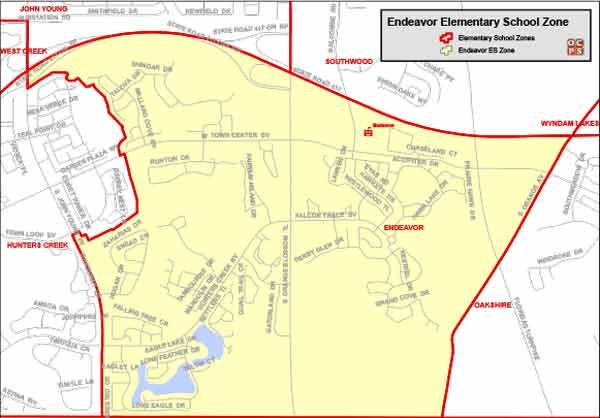 OCPS Endeavor Elementary Map