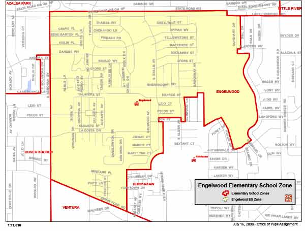 OCPS Englewood Elementary Map