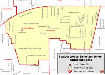 OCPS Forsyth Woods Elementary Map
