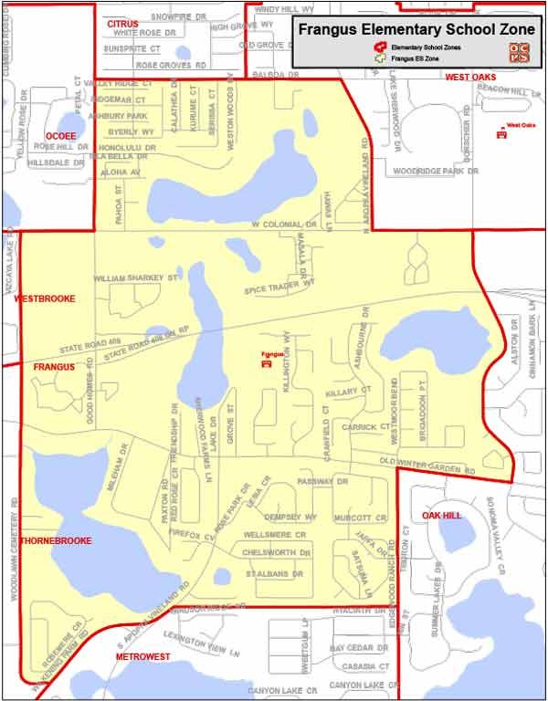 OCPS Frangus Elementary Map