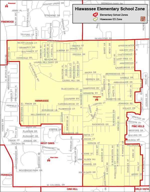 OCPS Hiawassee Elementary Map