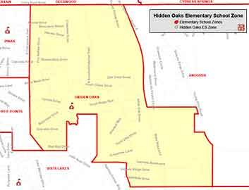 OCPS Hidden Oaks Elementary Map