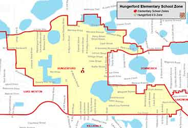 OCPS Hungerford Elementary Map