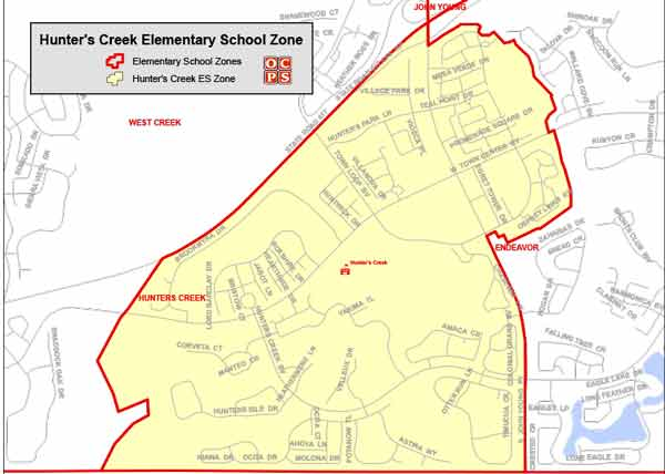 OCPS Hunter's Creek Elementary Map