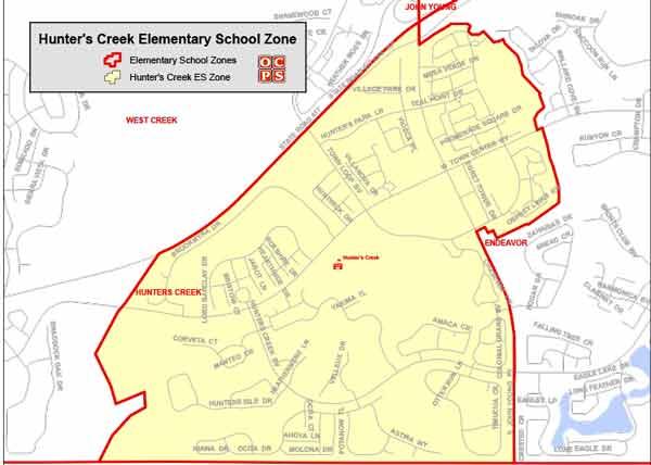 OCPS Hunter's Creek Elementary Map