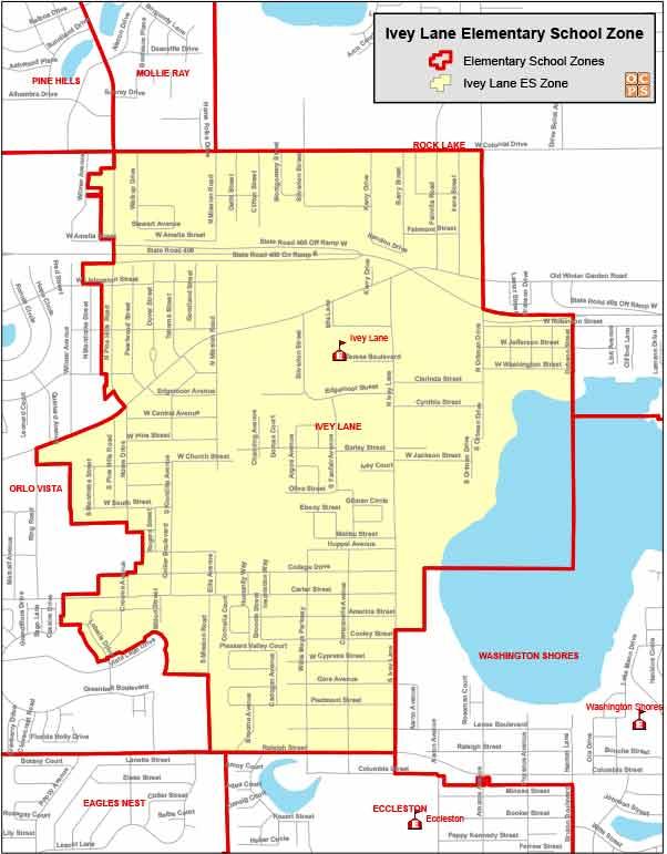 OCPS Ivey Lane Elementary Map
