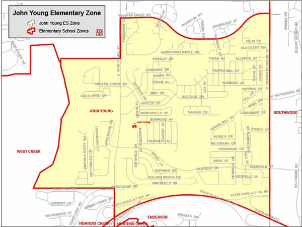 OCPS John Young Elementary Map