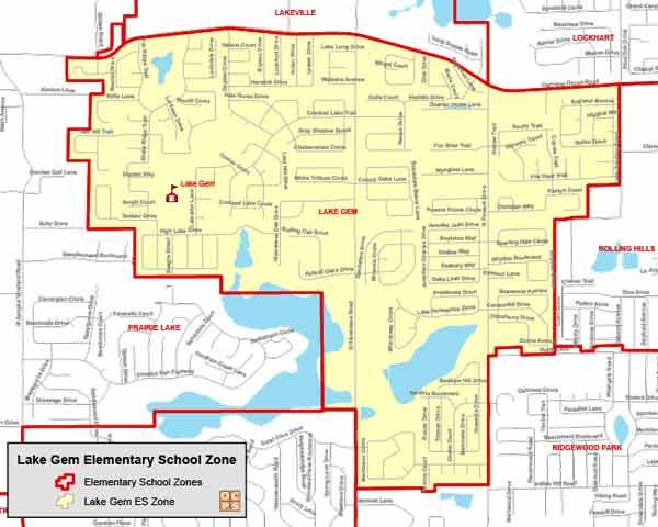 OCPS Lake Gem Elementary Map