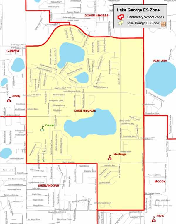 OCPS Lake George Elementary Map