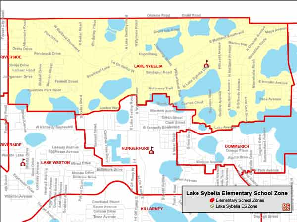 OCPS Lake Sybelia Elementary Map
