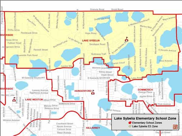 OCPS Lake Sybelia Elementary Map