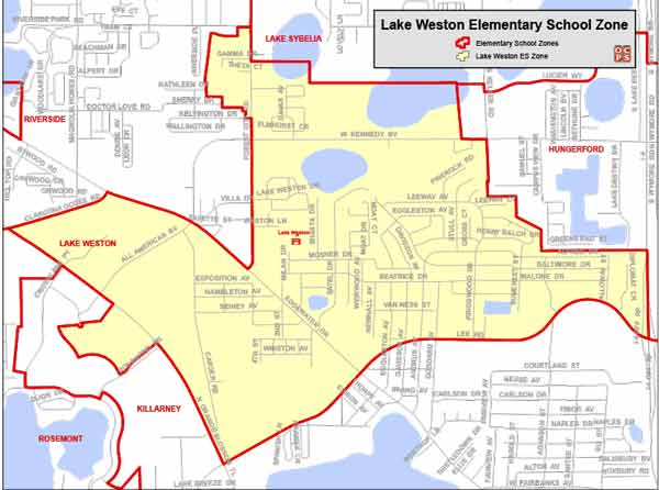 OCPS Lake Weston Elementary Map