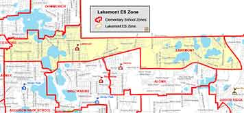 OCPS Lakemont Elementary Map