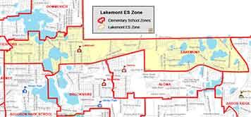 OCPS Lakemont Elementary Map