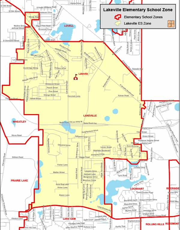 OCPS Lakeville Elementary Map