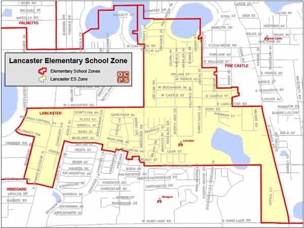 OCPS Lancaster Elementary Map
