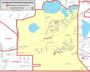OCPS Laureate Park Elementary Map