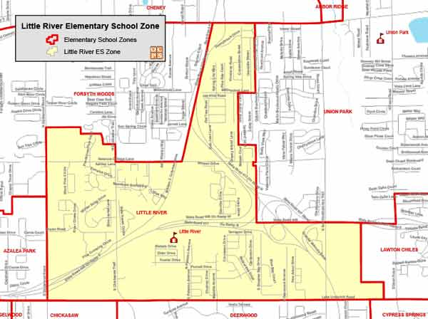 OCPS Little River Elementary Map