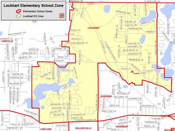 OCPS Lockhart Elementary Map