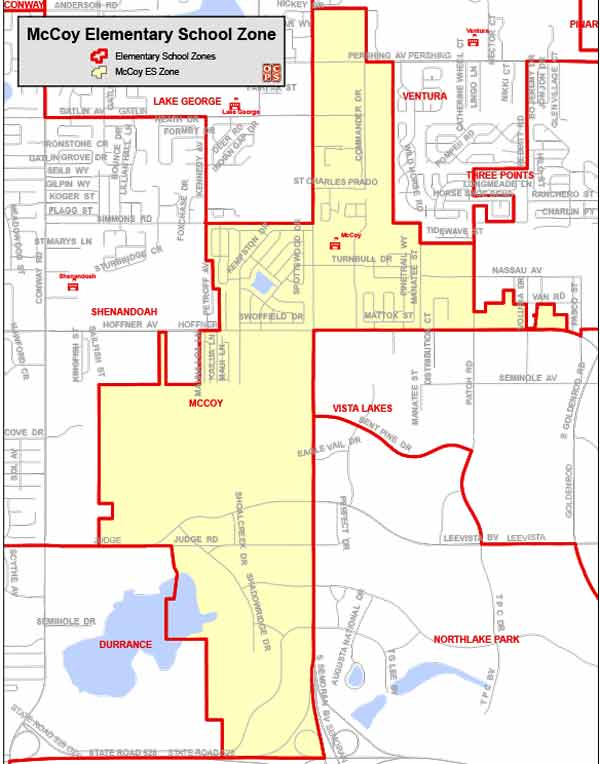 OCPS McCoy Elementary Map