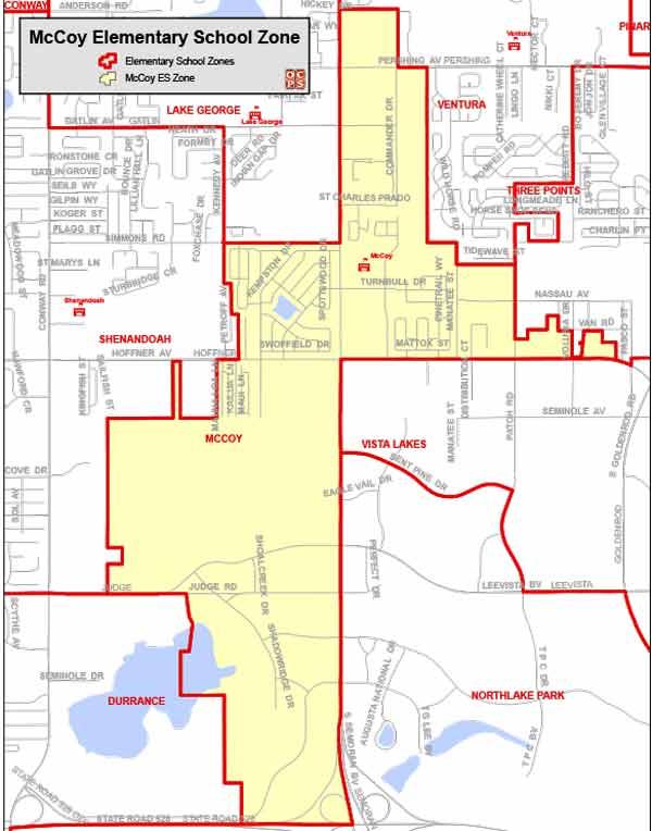 OCPS McCoy Elementary Map