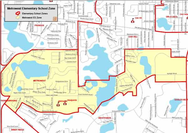 OCPS Metrowest Elementary Map