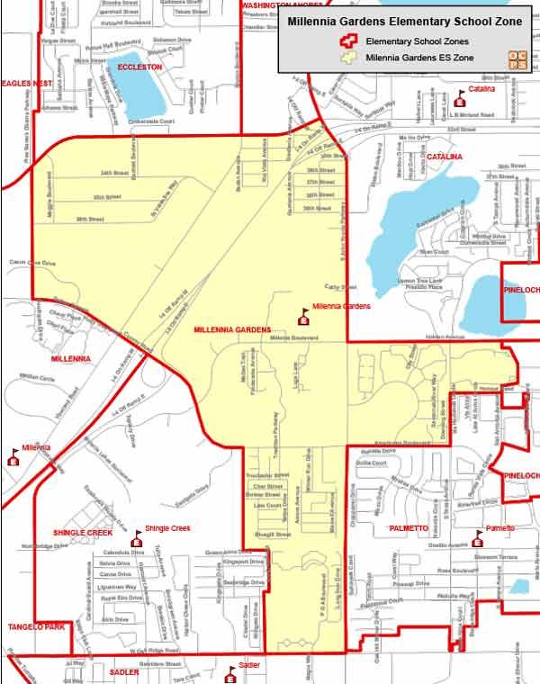 OCPS Millennia Gardens Elementary Map