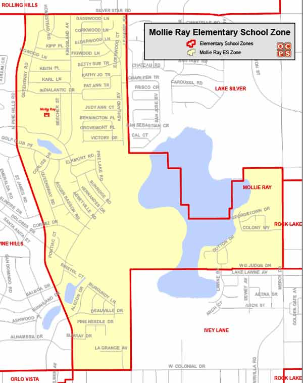 OCPS Mollie Ray Elementary Map