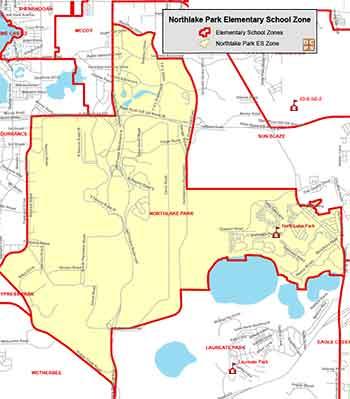 OCPS Northlake Park Elementary Map