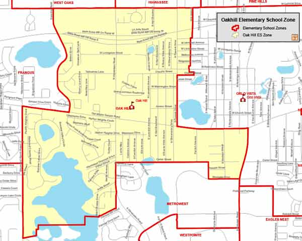OCPS Oak Hill Elementary Map