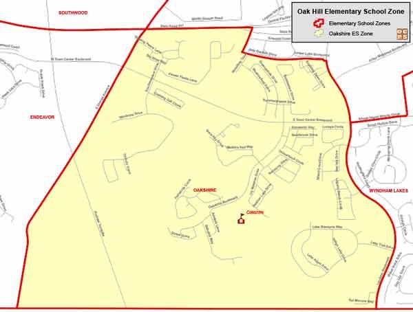 OCPS Oakshire Elementary Map