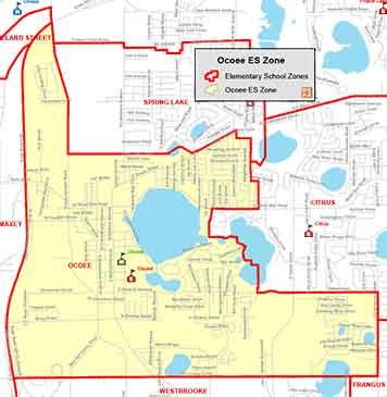 OCPS Ocoee Elementary Map
