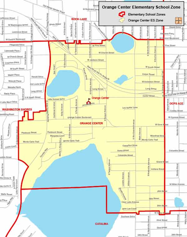 OCPS Orange Center Elementary Map