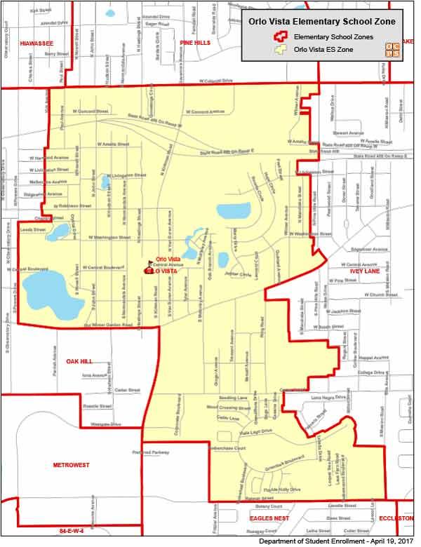 OCPS Orlo Vista Elementary Map