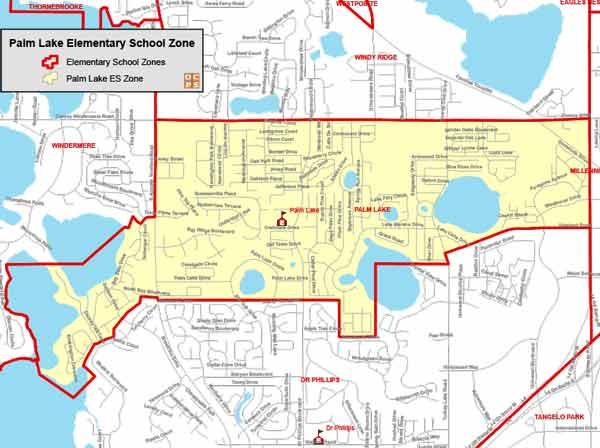 OCPS Palm Lake Elementary Map
