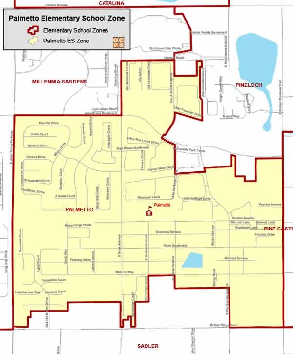 OCPS Palmetto Elementary Map