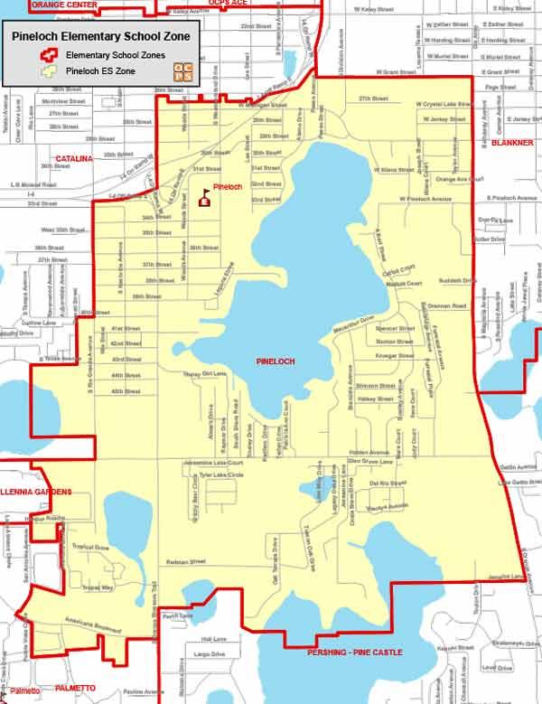 OCPS Pineloch Elementary Map