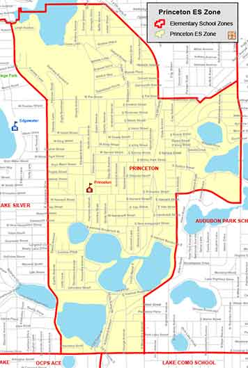 OCPS Princeton Elementary Map