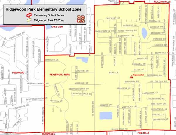 OCPS Ridgewood Elementary Map