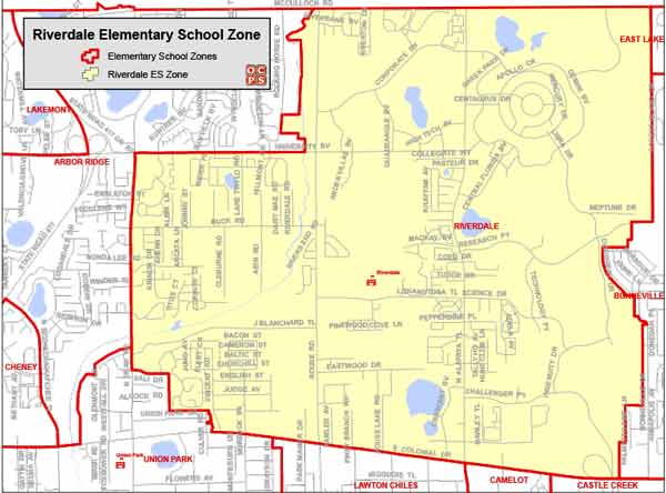 OCPS Riverdale Elementary Map