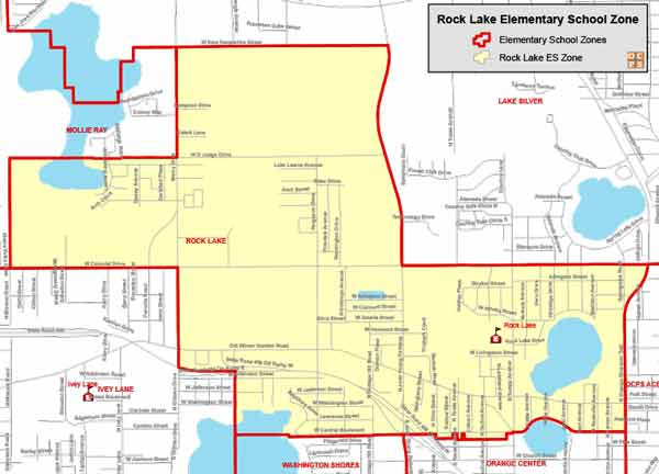 OCPS Rock Lake Elementary Map