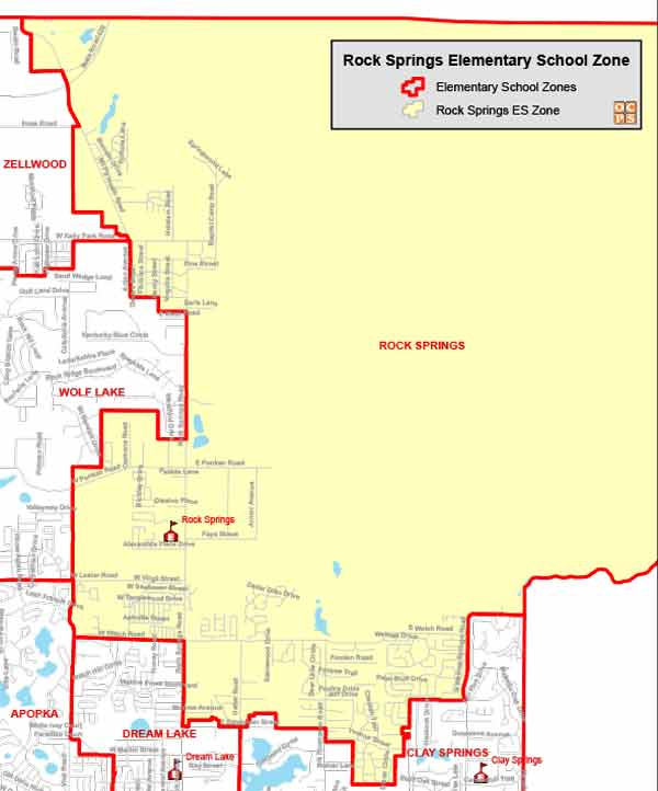 OCPS Rock Springs Elementary Map