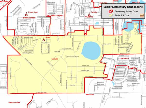 OCPS Sadler Elementary Map