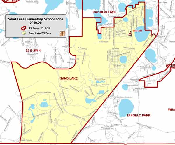 OCPS Sand Lake Elementary Map