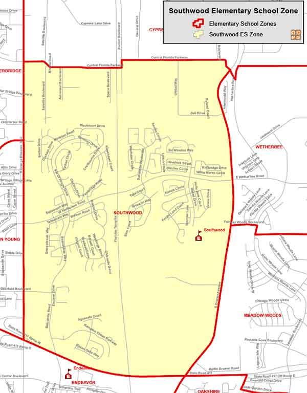 OCPS Southwood Elementary Map