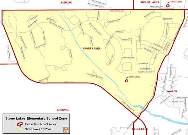 OCPS Stone Lakes Elementary Map